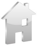 Grey house symbol Stock Images