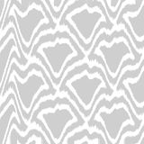 Grey Ikat Pattern vektor illustrationer