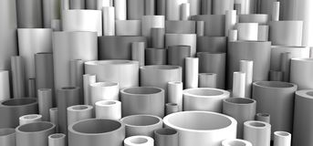 Free Grey Industrial Plastic Pipes Stock Images - 109615454
