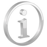 Grey info symbol Royalty Free Stock Photos