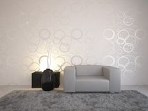 Grey Interior Design Royalty Free Stock Photography