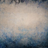 Grey invecchiato - fondo blu Immagini Stock