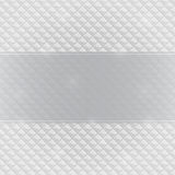 Grey Invitation Card mit horizontalem Aufkleber lizenzfreie stockfotografie