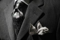 Grey jacket & tie royalty free stock image