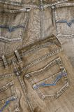 Grey jeans material Royalty Free Stock Photography