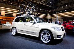 Grey jeep car Mersedes GLK Royalty Free Stock Images