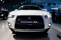 Grey jeep car Mitsubishi  Outlander Evolution XL Stock Photo
