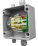 Grey junction box Stock Photography