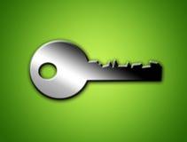 Grey key Royalty Free Stock Photos