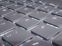 Grey keyboard royalty free stock photography