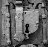 Grey Keyhole Royalty Free Stock Photography