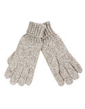Grey knitted gloves Stock Image