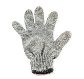 Grey knitted winter gloves Royalty Free Stock Photography