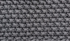 Grey knitted wool Royalty Free Stock Images