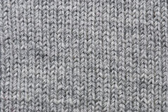 Grey knitting background Royalty Free Stock Photo