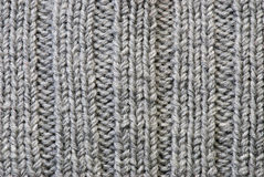 Grey knitting background Royalty Free Stock Image