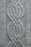 Grey knitting background Stock Image
