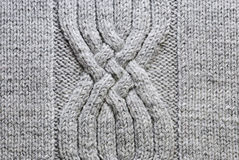 Grey knitting background Stock Images