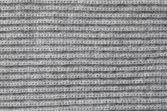Grey knitting wool texture Royalty Free Stock Photography