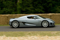 Grey koenigsegg ccx-r edition. On track at goodwood festival of speed stock photos
