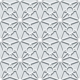 Grey lace ornament, seamless pattern Stock Photography