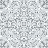 Grey lace pattern Stock Photos