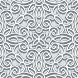 Grey lace pattern Stock Photography