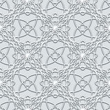 Grey lace pattern Royalty Free Stock Image