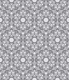 Grey lacing ornamented pattern with Swedish motifs Royalty Free Stock Photography