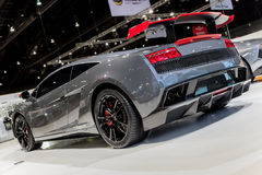 Grey Lamborghini Gallardo LP570-4 Superleggera royaltyfri bild