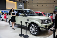 Grey land rover discovery 2014 car Stock Images