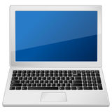 Grey laptop Royalty Free Stock Photos