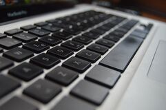 Grey Laptop Keypad Royalty Free Stock Image