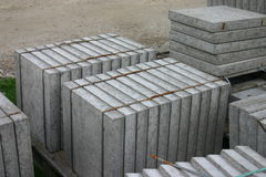 Grey large building blocks or plates Stock Photos