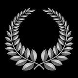 Grey laurel icon background Stock Image