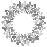 Grey laurel wreath vector frame on white background Stock Photos