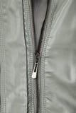 Grey leather jacket background, close up Stock Images