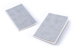 Grey leather notebook isolated on white background Royalty Free Stock Photos