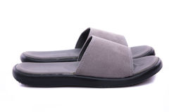 Grey leather sandal Royalty Free Stock Images