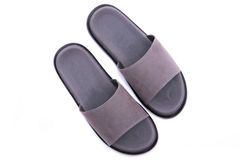Grey leather sandal Stock Photo