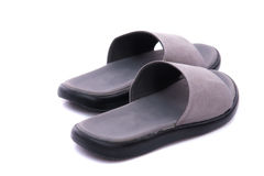 Grey leather sandal Stock Image