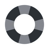 Grey lifesaver icon. Simple grey striped lifesaver icon  illustration Royalty Free Stock Images
