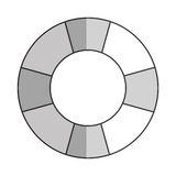 Grey lifesaver icon. Simple grey striped lifesaver icon  illustration Royalty Free Stock Photography