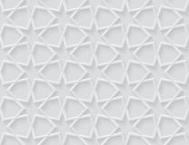 Grey light geometric pattern in arabic style Stock Photos