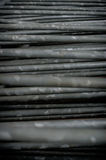 Grey metallic bars Stock Photos
