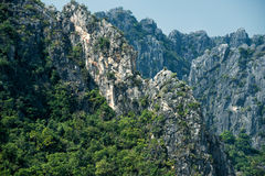 Grey limestone peaks in Sam Roi Yot National Park Royalty Free Stock Images