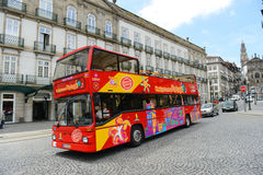 Grey Line tour bus in Porto, Portugal Stock Photos