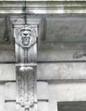 Grey lion head relief Royalty Free Stock Photo