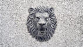 Grey Lion head statue Stock Photo