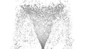 Grey Liquid-Tornado Schöner farbiger Saft des Rauschs Lokalisierte transparente Turbulenz der Flüssigkeit mögen Animation des Wir vektor abbildung